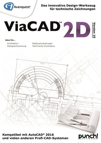 Verpackung von Avanquest ViaCAD 2D Version 10 (Windows) [PC-Software]