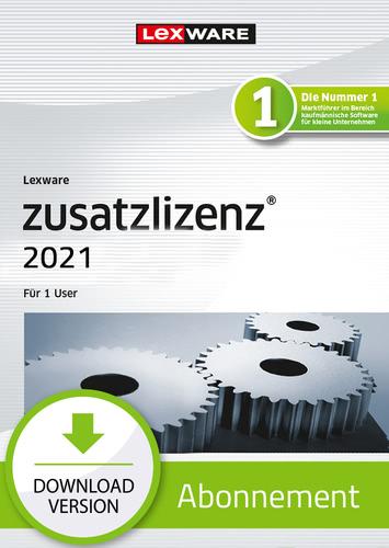 Verpackung von Lexware zusatzlizenz professional & premium 2021 - Abo Version (1 User) [PC-Software]
