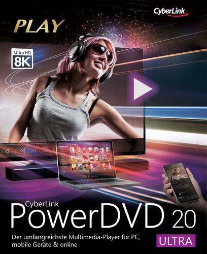 Verpackung von CyberLink PowerDVD 20 Ultra [PC-Software]