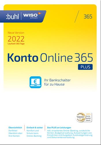 Verpackung von WISO Konto Online 365 Plus (Version 2022) [PC-Software]