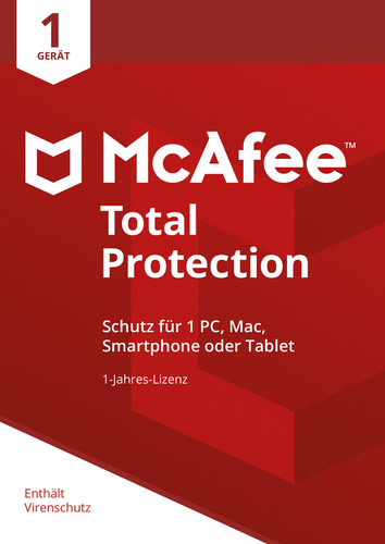 Verpackung von McAfee Total Protection 1 Gerät / 12 Monate [MULTIPLATFORM]