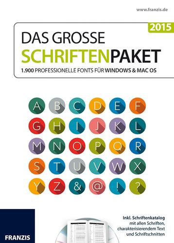 Verpackung von Das große Schriftenpaket 2015 für Mac [Mac-Software]