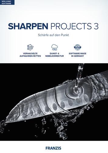 Verpackung von FRANZIS SHARPEN projects 3 [MULTIPLATFORM]