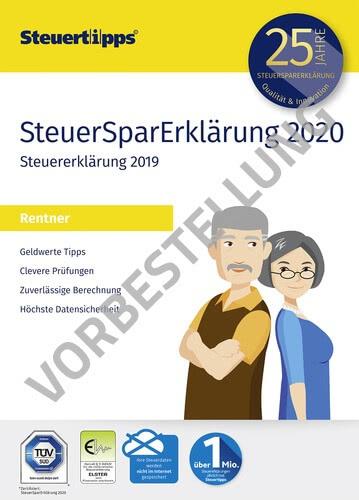 Verpackung von SteuerSparErklärung Rentner 2021 (für Steuerjahr 2020) - Vorbestellung [PC-Software]