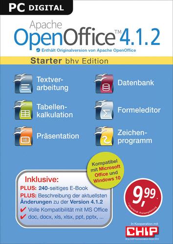 Verpackung von Apache OpenOffice 4.1.2 - Starter [PC-Software]