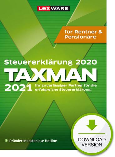 TAXMAN 2021 Rentner & Pensionäre (für Steuerjahr 2020) (Download), PC