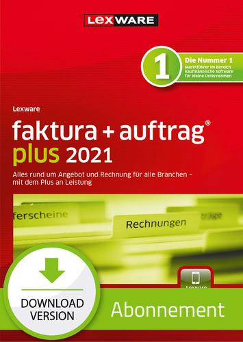 Verpackung von Lexware faktura + auftrag plus 2021 - Abo Version [PC-Software]