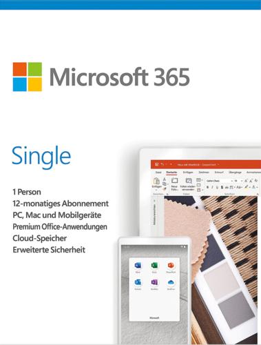 Verpackung von Microsoft 365 Single  [MULTIPLATFORM]