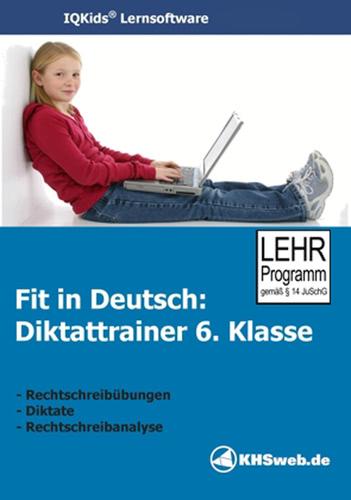 Verpackung von Fit in Deutsch: Diktattrainer - 6. Klasse [PC-Software]