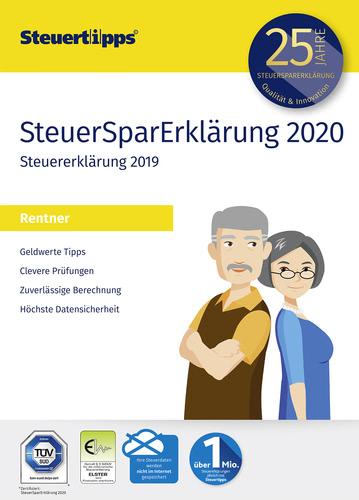 Verpackung von SteuerSparErklärung für Rentner 2020 (für Steuerjahr 2019) [PC-Software]