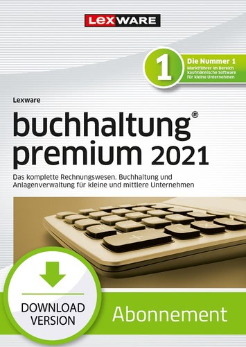 Verpackung von Lexware buchhaltung premium 2021 - Abo Version [PC-Software]