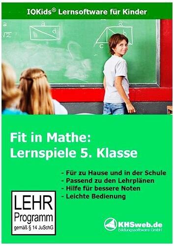 Verpackung von Fit in Mathe: Lernspiele 5. Klasse [PC-Software]