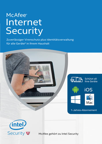 Verpackung von Mcfee Internet Security 2016 3 User / 12 Monate [PC-Software]