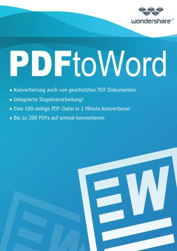 Verpackung von Wondershare PDF to Word Converter - lebenslange Lizenz [PC-Software]
