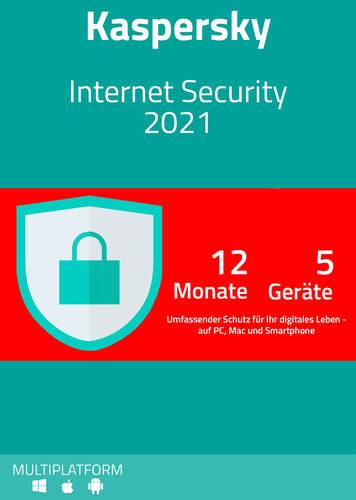 Verpackung von Kaspersky Internet Security 2021 (5 Geräte / 12 Monate) [MULTIPLATFORM]