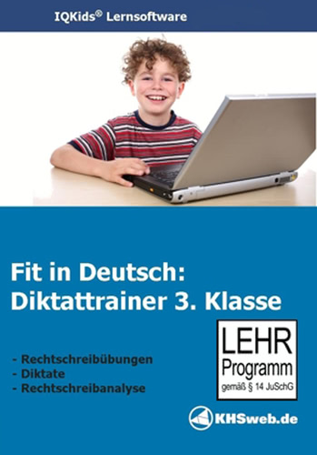 Verpackung von Fit in Deutsch: Diktattrainer - 3. Klasse [PC-Software]
