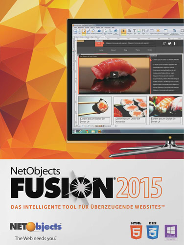 Verpackung von NetObjects Inc. Fusion 2015 Upgrade [PC-Software]