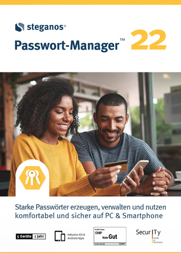 Verpackung von Steganos Passwort-Manager 22 - 1 Jahr / 5 Geräte [PC-Software]