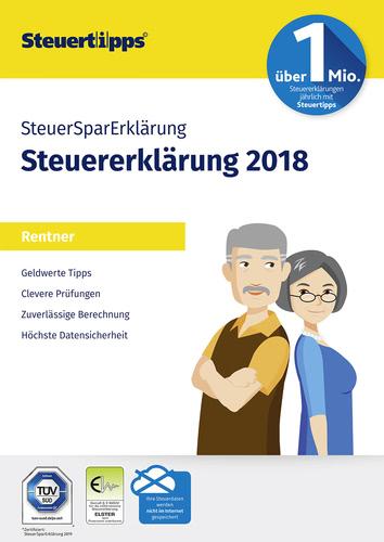 Verpackung von SteuerSparErklärung Rentner 2019 (für Steuerjahr 2018) [PC-Software]