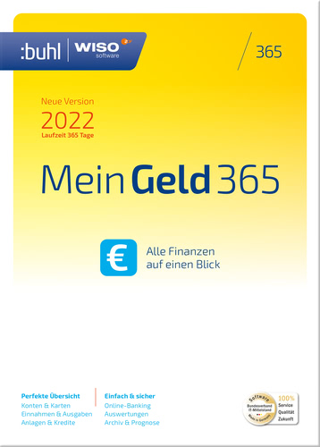 Verpackung von WISO Mein Geld 365 (Version 2022) [PC-Software]