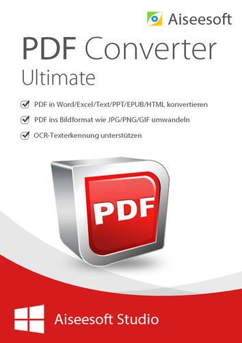 Verpackung von Aiseesoft PDF Converter Ultimate (Version 2017) - lebenslange Lizenz [PC-Software]