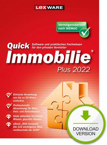 Verpackung von Lexware QuickImmobilie Plus 2022 [PC-Software]