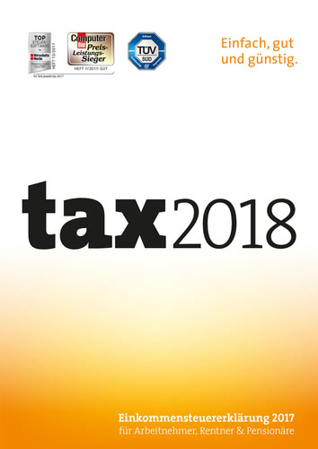 Verpackung von tax 2018 (für Steuerjahr 2017) [PC-Software]
