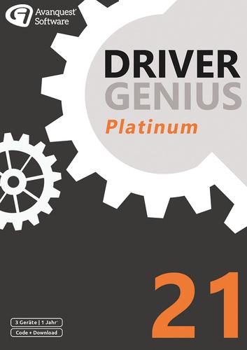 Verpackung von Driver Genius 21 Platinum (3 Geräte / 1 Jahr) [PC-Software]