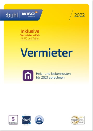 Verpackung von WISO Vermieter 2022 [PC-Software]