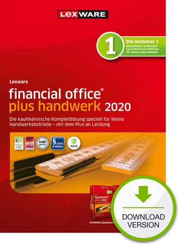Verpackung von Lexware financial office 2020 plus handwerk Testversion [PC-Software]