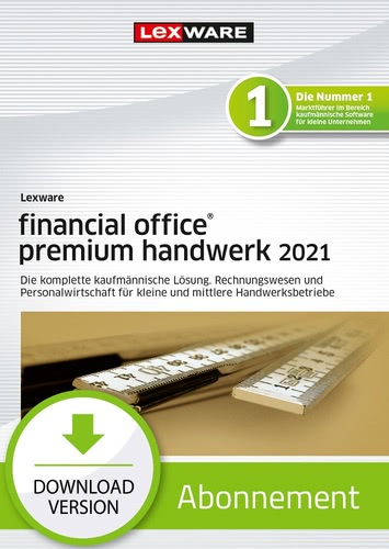 Verpackung von Lexware financial office premium handwerk 2021 - Abo Version [PC-Software]