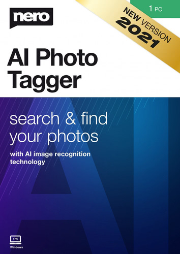 Verpackung von Nero AI Photo Tagger 2021 - 1 PC [PC-Software]