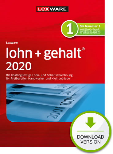 Lexware lohn + gehalt 2020 – Jahresversion (365-Tage) (Download), PC