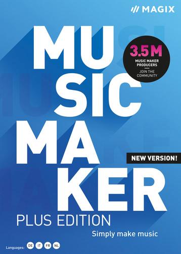 Verpackung von MAGIX Music Maker Plus (2021) [PC-Software]