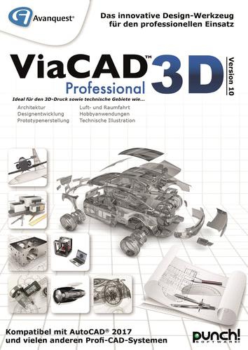 Verpackung von Avanquest ViaCAD 3D Professional Version 10 (Mac) [Mac-Software]