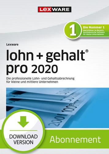 Verpackung von Lexware lohn+gehalt pro 2020 Download - Abo Version [PC-Software]