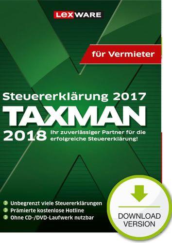 TAXMAN 2018 für Vermieter (für Steuerjahr 2017) (Download), PC