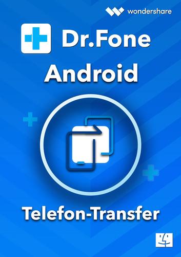 Verpackung von Wondershare Dr. Fone Telefon-Transfer (Android) Mac - 5 Geräte 1 Jahr 5 Geräte 1 Jahr Laufzeit [Mac-Software]