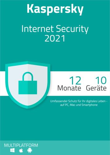 Verpackung von Kaspersky Internet Security 2021 (10 Geräte / 12 Monate)  [MULTIPLATFORM]