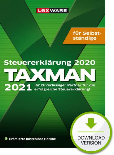 Verpackung von TAXMAN 2021 für Selbstständige (für Steuerjahr 2020) [PC-Software]