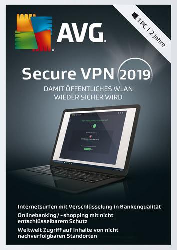 Verpackung von AVG Secure VPN (1 PC / 2 Jahre) [PC-Software]