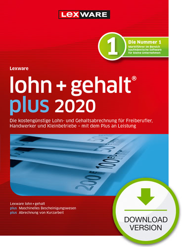Lexware lohn + gehalt 2020 plus – Jahresversion (365-Tage) (Download), PC
