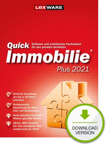 Verpackung von Lexware QuickImmobilie Plus 2021 [PC-Software]