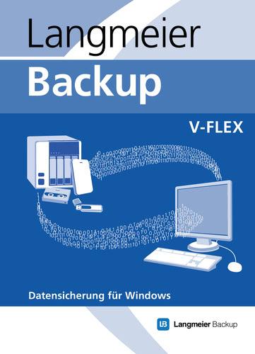 Verpackung von Langmeier Backup 10 V-flex (Unbegrenzte Laufzeit inkl. 1 Jahr Updateservice) [PC-Software]