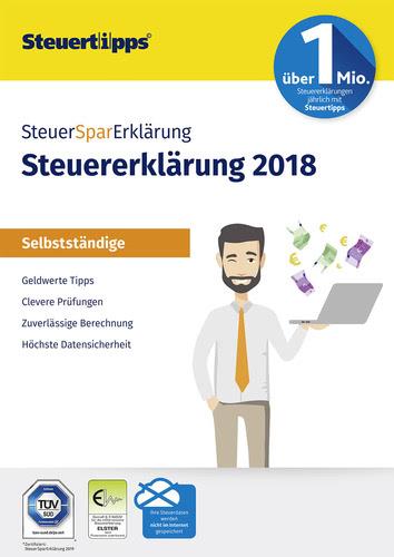 Verpackung von SteuerSparErklärung Selbstständige 2019 (für Steuerjahr 2018) [PC-Software]