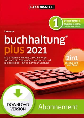 Verpackung von Lexware buchhaltung plus 2021 - Abo Version [PC-Software]