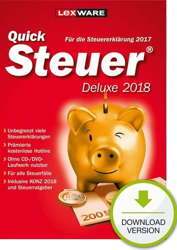 QuickSteuer Deluxe 2018 (für Steuerjahr 2017) (Download), PC