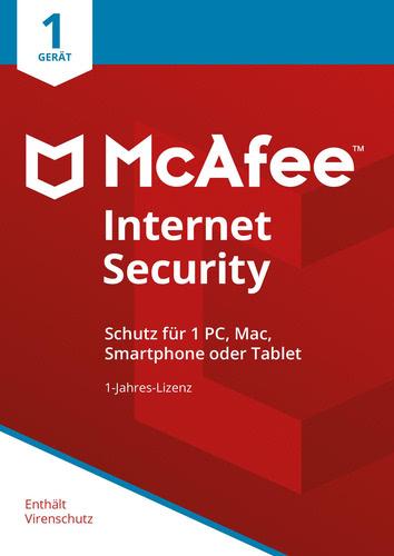 Verpackung von McAfee Internet Security 1 Gerät / 12 Monate [MULTIPLATFORM]
