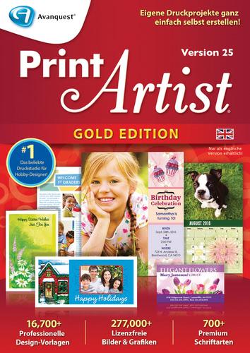 Verpackung von Print Artist Gold 25 (Englisch) [PC-Software]