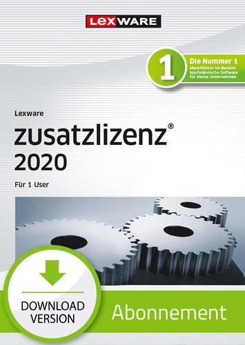 Verpackung von Lexware zusatzlizenz 2020 für 1 User - Abo-Version [PC-Software]